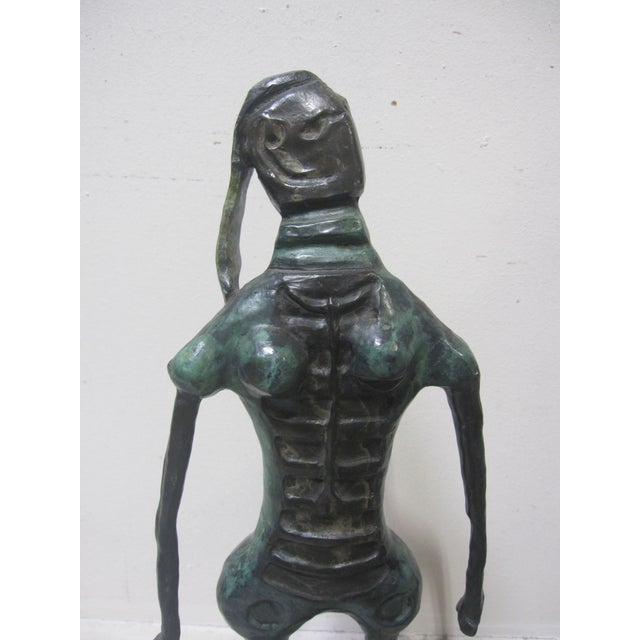 STEAL THIS! INVESTMENT ART AT A HUGE DISCOUNT! This is a stunning vintage patina bronze sculpture by Mexican Modernist...