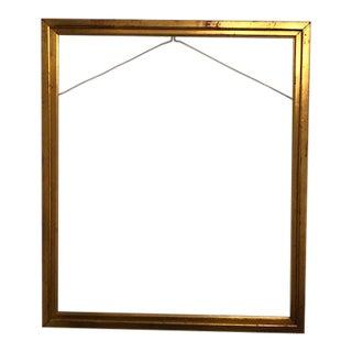 Antique Gold Leaf Gilded Wood Frame For Sale