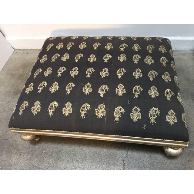 Ottoman Coffee Table With Vintage Moorish Textile Upholstery From Lebanon For Sale - Image 10 of 10