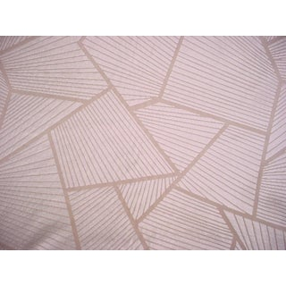 4y Pierre Frey F3102002 Eventail Poudre White Geometric Velvet Upholstery Fabric For Sale