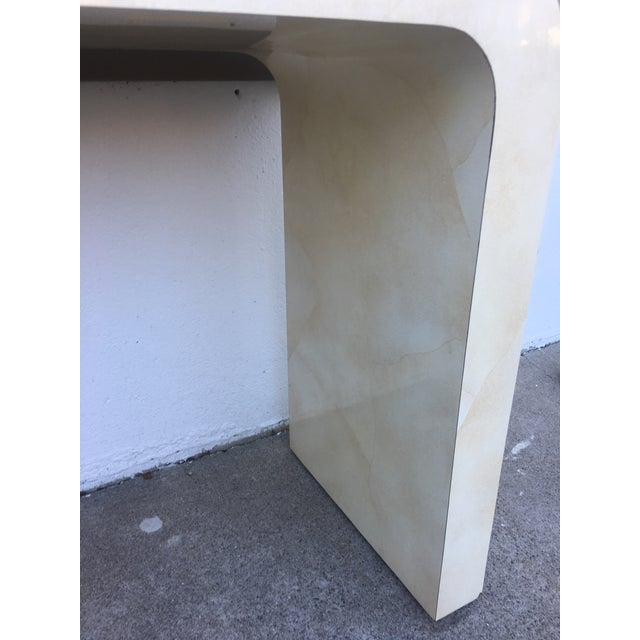 Paint 1980s Contemporary Goat Skin Waterfall Console Table For Sale - Image 7 of 11