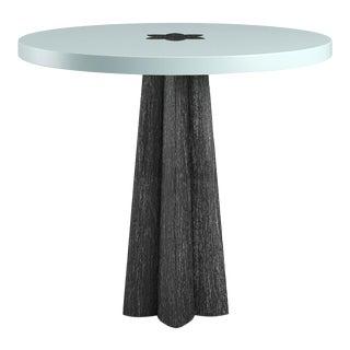 Danielle Side Table - Black Cerused Oak - Ocean Air Blue For Sale