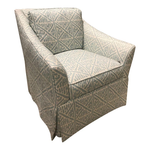 Pearson Veronica Skirted Swivel Chair For Sale