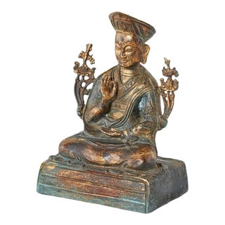 Chinese Ming Style Bronze Metal Seated Buddha For Sale