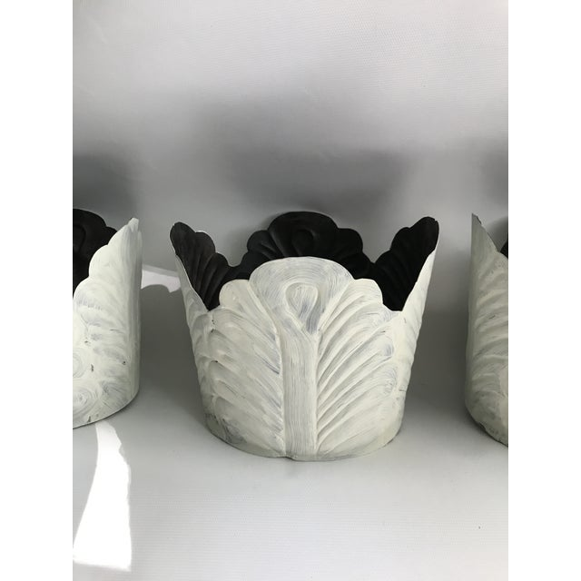Painted Tole Cabbage Cachepot - Set of 3 For Sale - Image 10 of 12