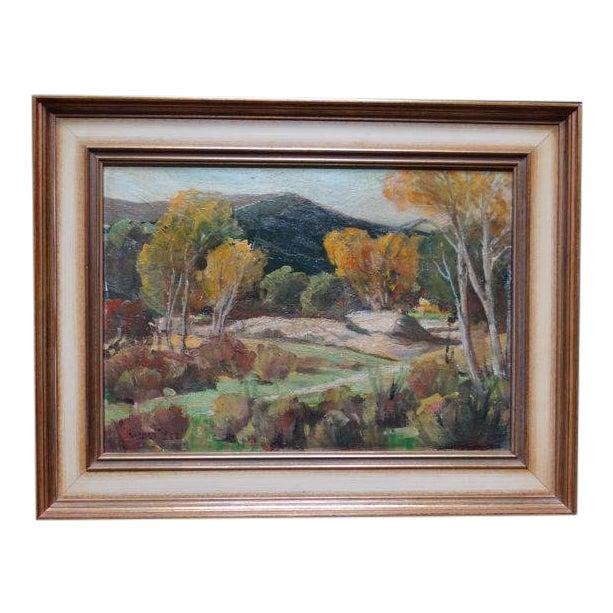 1950s Vintage Walt Lee Plein Air Landscape Painting