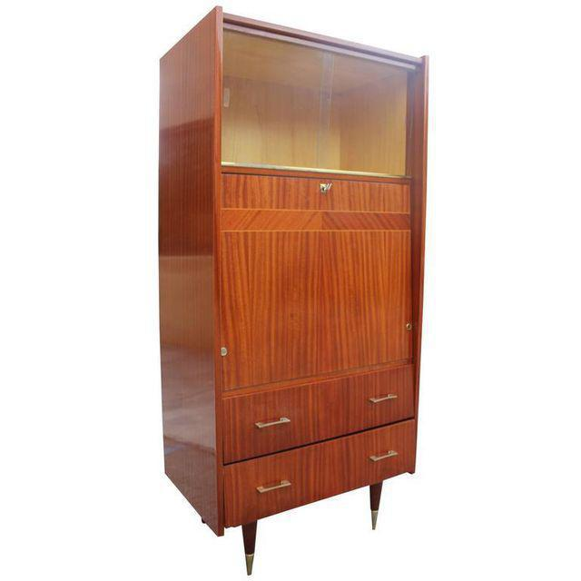 Monumental French Art Deco Mahogany Bar, Circa 1940s - Image 8 of 9