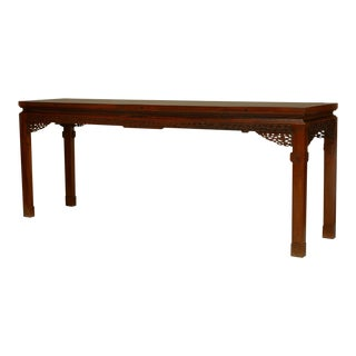 Asian Chinese Large Hardwood Console Table
