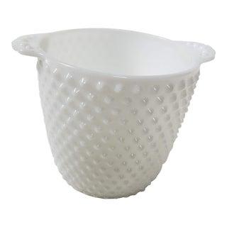 Hobnail Milk Glass Ice Bucket For Sale