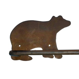 Black Forest Wilderness Animal Themed Rustic Iron Towel Bars - a Pair Preview