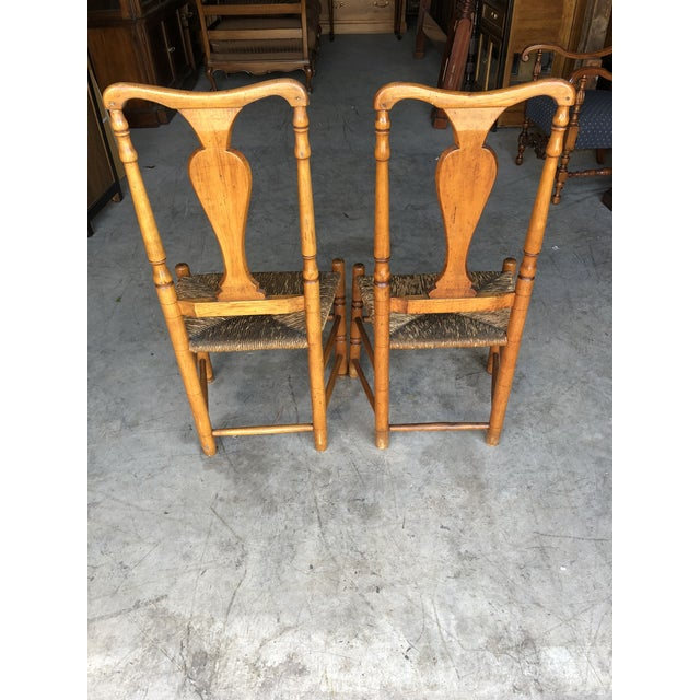 Country Late 18th Century Country Queen Anne Chairs- A Pair For Sale - Image 3 of 11