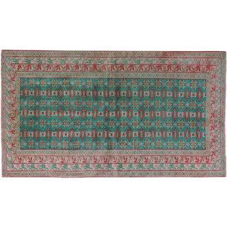 "Vintage Persian Turkoman Rug - 3'11"" x 7'"