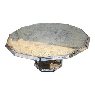Hollywood Regency Mirrored Coffee Table For Sale