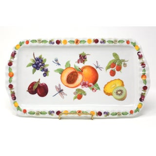 Ceramic Tray With Fruit and Dragonflies by Paul Cardew Preview