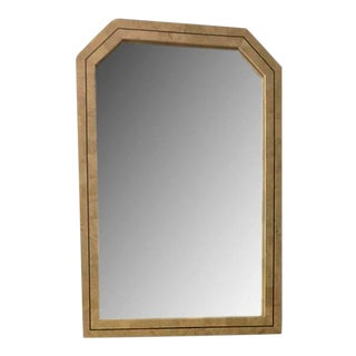 Maitland Smith Tessellated Stone and Brass Inlay Mirror For Sale