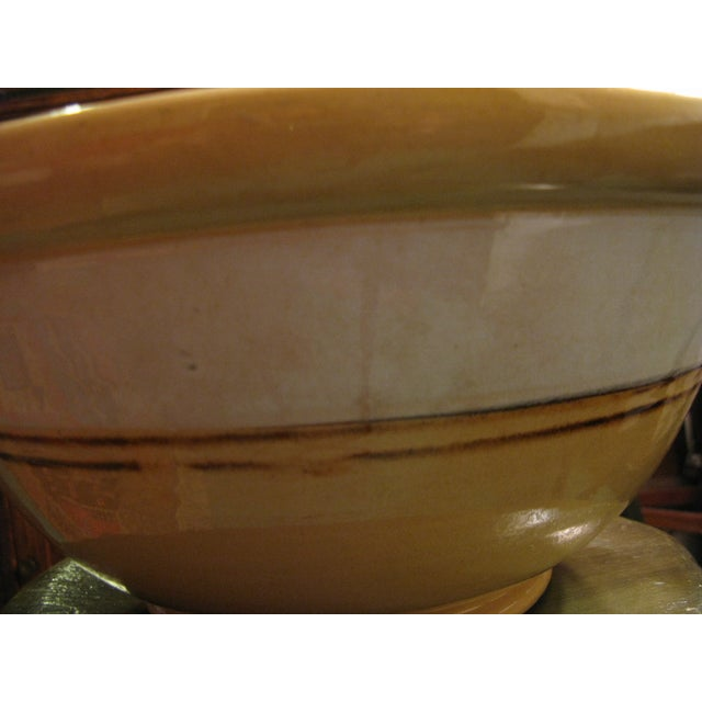 Classic Large Antique Yellow Ware Mixing Bowl - Image 7 of 9