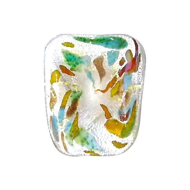 Mid-Century Modern Irridescent Colored Glass Dish - Image 2 of 4
