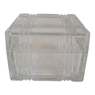 Clear Glass Box in the the Style of Tiffany & Co. For Sale