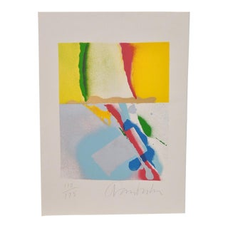 1980s Vintage Original Color Lithograph by John Angus Chamberlain For Sale