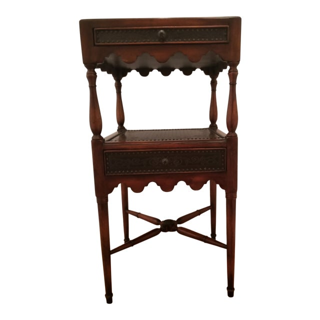 Asian Antique Theodore Alexander Side Table For Sale