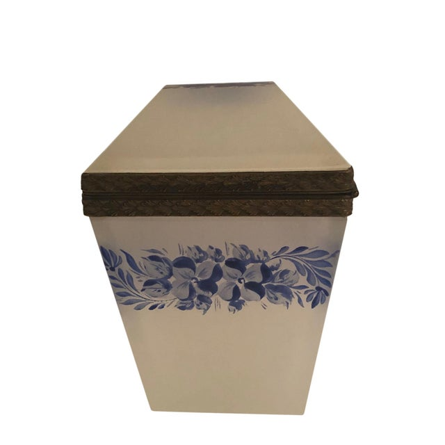 1940s Vintage French Opaline Box For Sale - Image 5 of 9