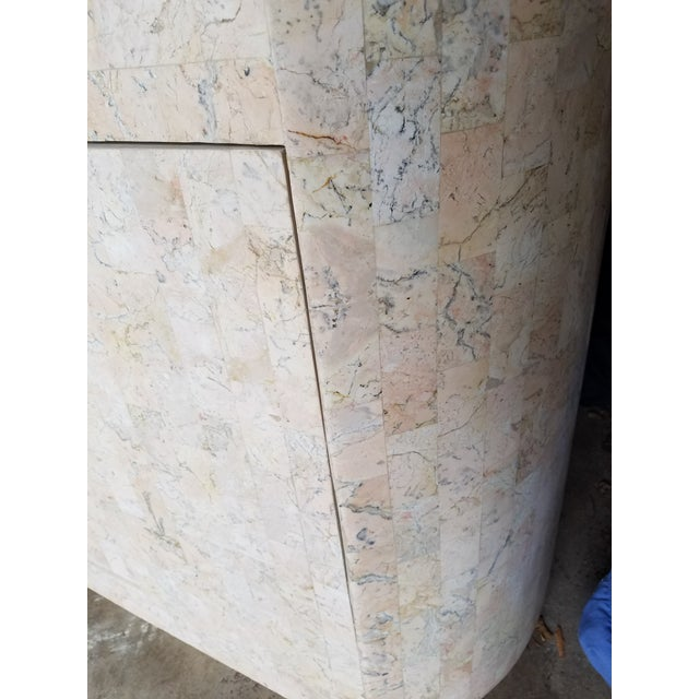 Maitland Smith Style Tessellated Pink Stone Credenza - Image 5 of 8