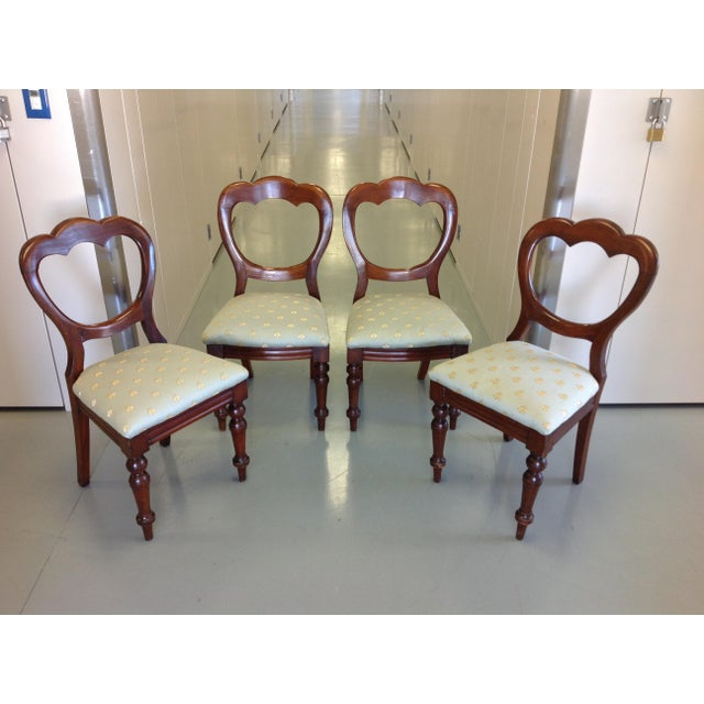 Victorian Balloon Back Chairs - Image 3 of 7