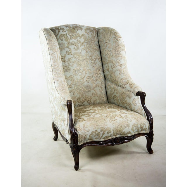 French 19th C. French Louis XV Style Low Bergere Chair For Sale - Image 3 of 11