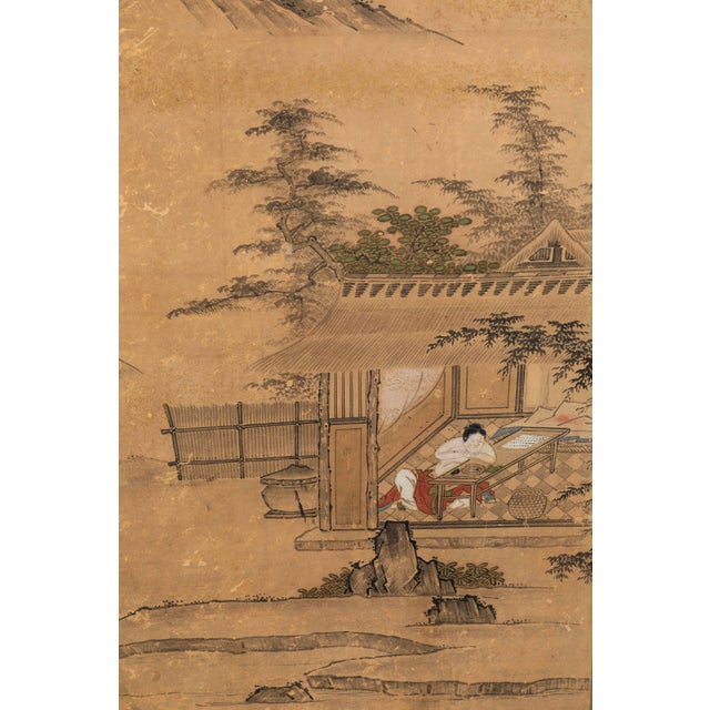 Antique Japanese Screen Panels For Sale - Image 10 of 12