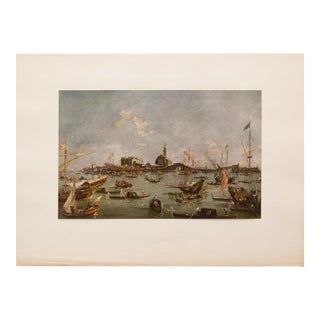"Vintage Francesco Guardi ""The Doge Embarking on the Bucentaur"" Lithograph For Sale"