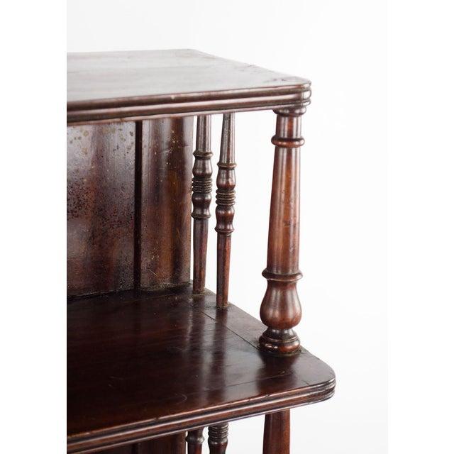 19th Century English Traditional Mahogany 3 Shelf Etagere For Sale In Atlanta - Image 6 of 13