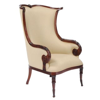 21st Century American Fireside Chair For Sale