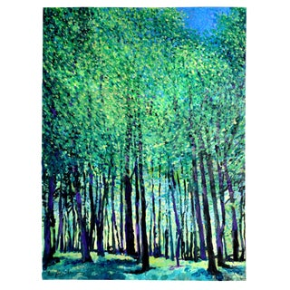 """Spring Forest"" Geoff Greene Contemporary Painting For Sale"