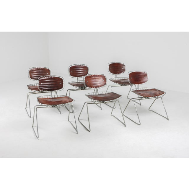 Mid-Century Modern Centre Pompidou Beauburg Chairs Selected by Jean Prouvé For Sale - Image 3 of 12