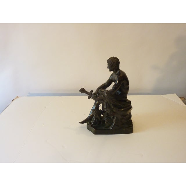 Late 20th Century Neoclassical Inspired Bronze Figure For Sale - Image 4 of 5