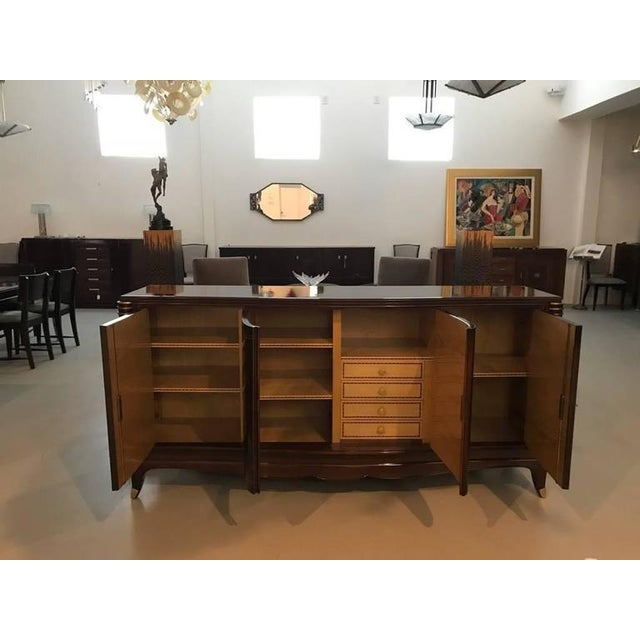1930s Jules Leleu Style French Art Deco Four Door Buffet For Sale - Image 5 of 10