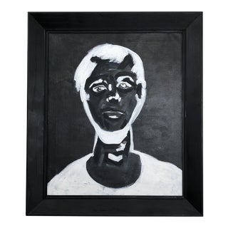 """1980s Andy Warhol Reproduction """"Self Portrait"""" Painting"""