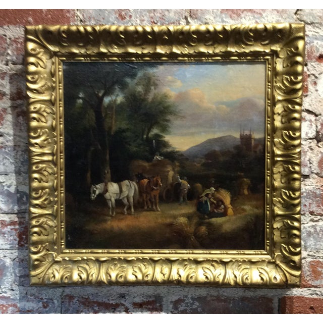 Antique 18th Century Dutch Old Masters Oil Painting For Sale - Image 10 of 10