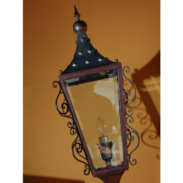 Baroque Italian Brass Wall Lantern For Sale - Image 3 of 9