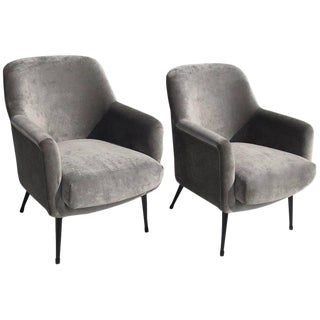 Nino Zoncada Club Chairs From Stella Maris-II Ocean Liner - A Pair