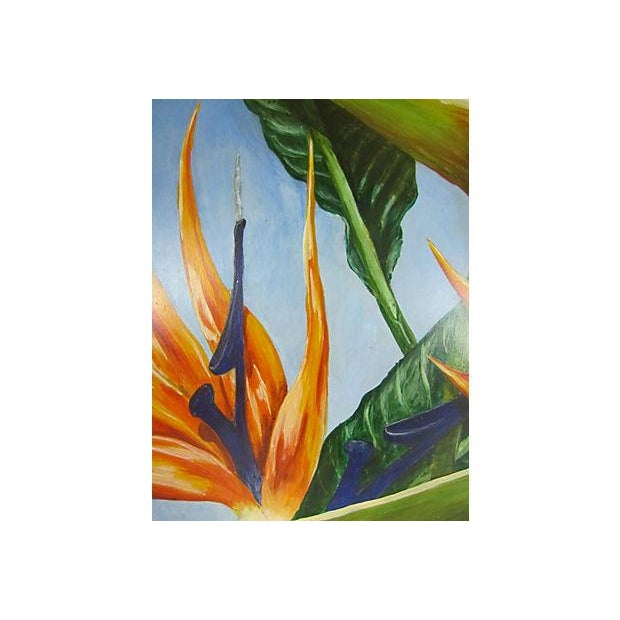 """""""Birds of Paradise"""" Oil Painting by Sally Gelley - Image 3 of 4"""