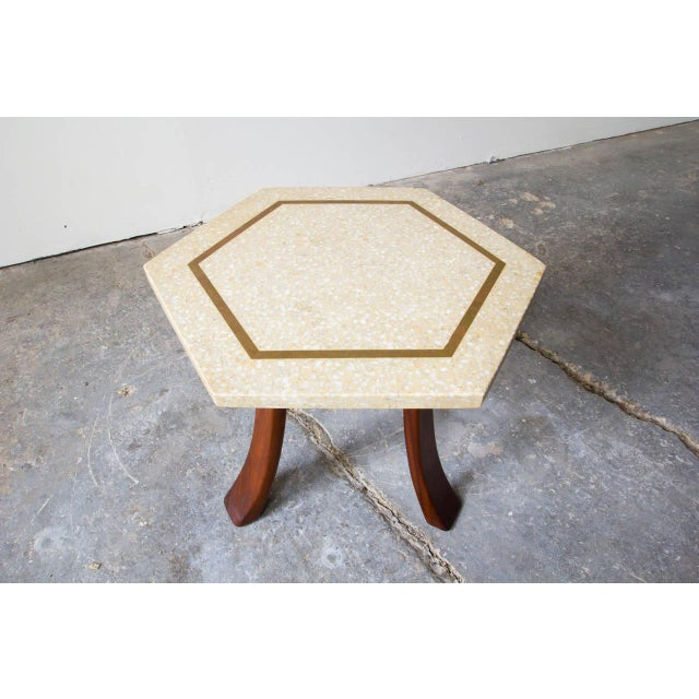 Mid-Century Modern Harvey Probber Hexagonal Side Table For Sale - Image 3 of 6