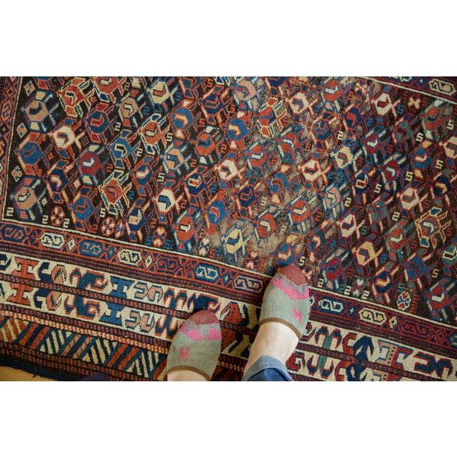 "Cabin Antique Caucasian Rug - 3'2"" X 5'5"" For Sale - Image 3 of 9"