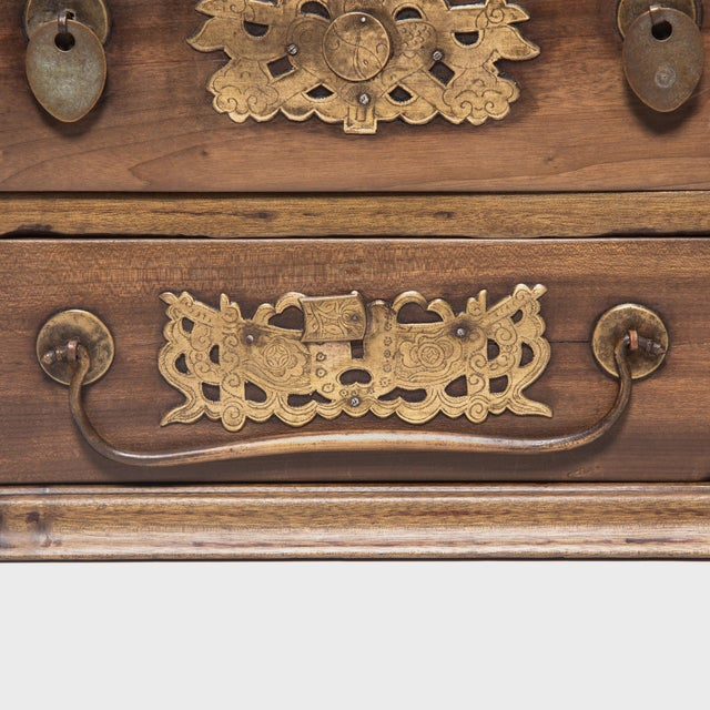 Brown Chinese Double Bat Jewelry Chest For Sale - Image 8 of 10