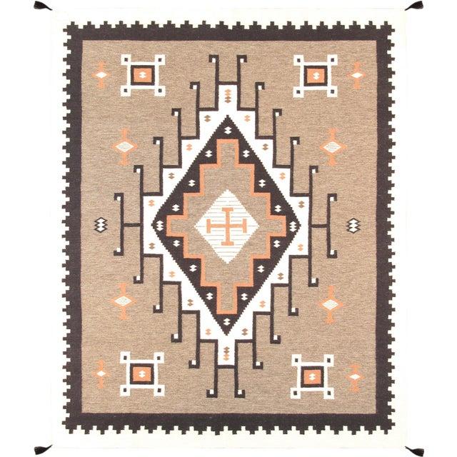 "Navajo Decorative Hand-Woven Rug- 7'10"" X 9'11"" - Image 1 of 3"