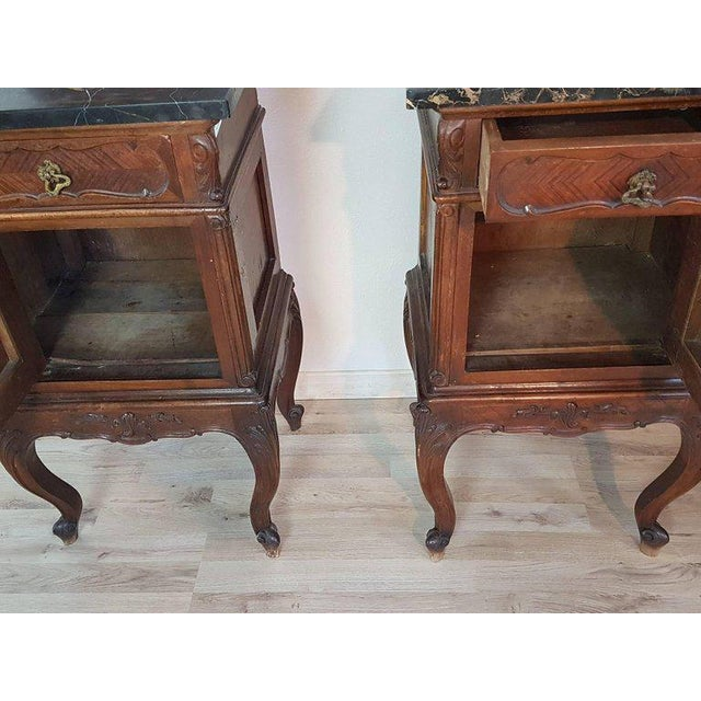 1980s 19th Century Italian Louis XV Rococò Style Wood Carved Bedroom Set For Sale - Image 5 of 13