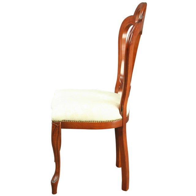 Wood Italian Rococo-Style Mahogany Chair For Sale - Image 7 of 8