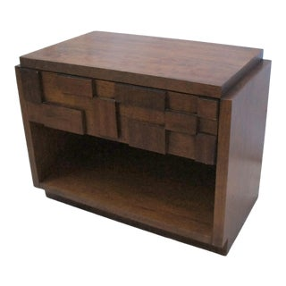 1960s Brutalist Lane Mosaic Series Nightstand For Sale