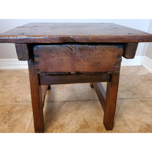 Wood Early 18th Century Spanish Colonial Rustic Small Table For Sale - Image 7 of 12