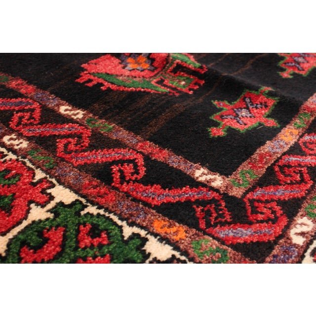Textile Hand-Knotted Turkish Red Rug For Sale - Image 7 of 9